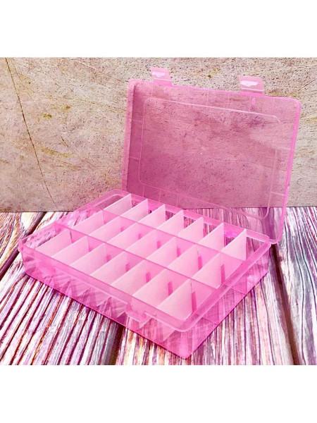 Контейнер на 24 секции (Розовый)