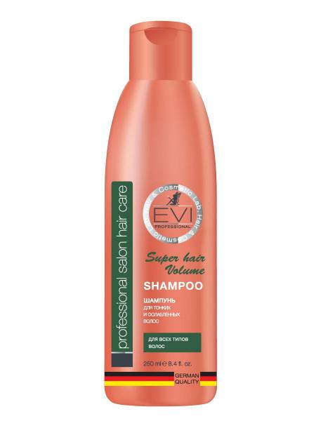 «EVI» Professional Шампунь «Объем и сила» для тонких и ослабленных волос. 250 мл