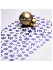 3D наклейки для дизайна ногтей 281 синий