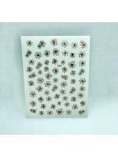 3D наклейки для дизайна ногтей №553 (розовое золото)