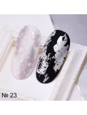 Фольга для дизайна ногтей СЕРЕБРО матовое №22