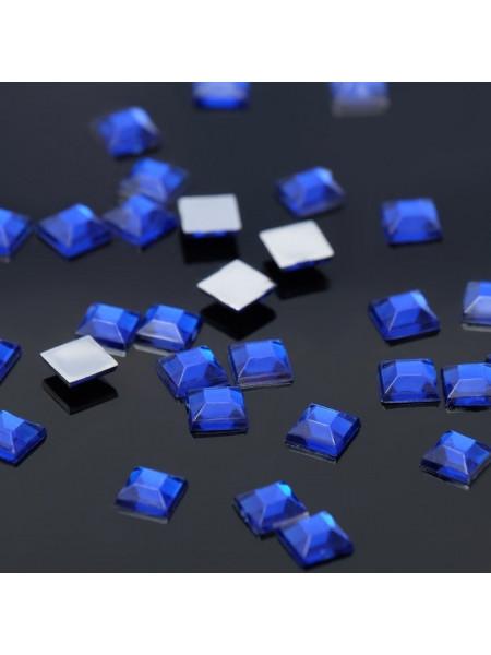 Стразы квадрат 4мм. Blue Flare 10шт.